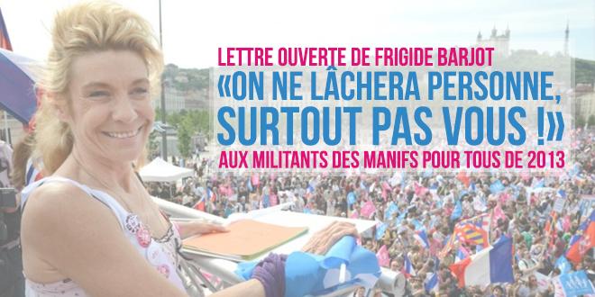Frigide Barjot aux manifestants : «On ne lâchera personne, surtout pas vous !»