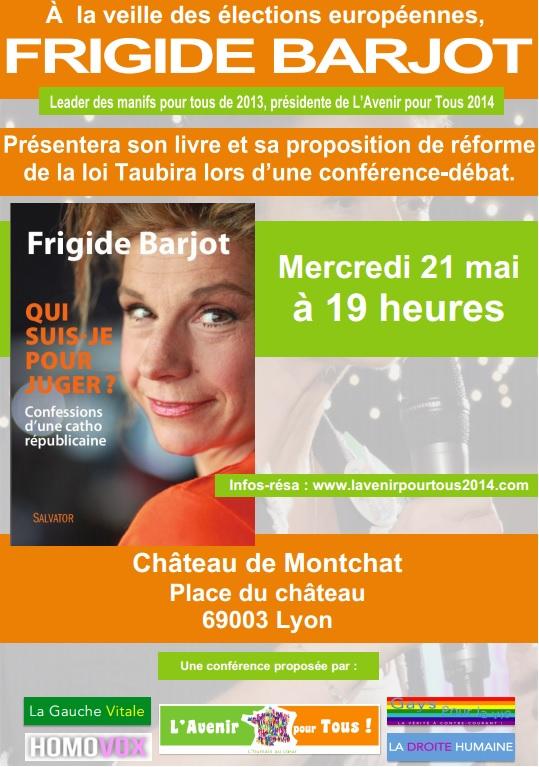 Frigide Barjot à Lyon le 21 mai 2014