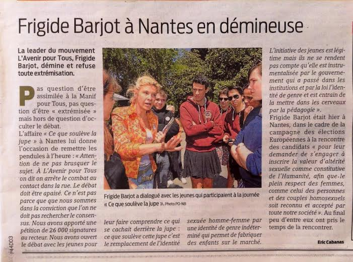 Frigide Barjot à Nantes en démineuse