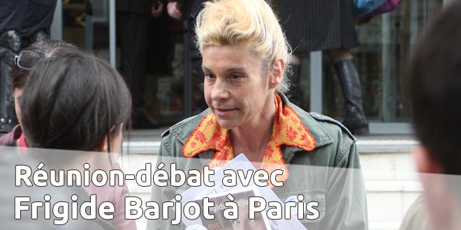 Réunion-débat à Paris avec Frigide Barjot