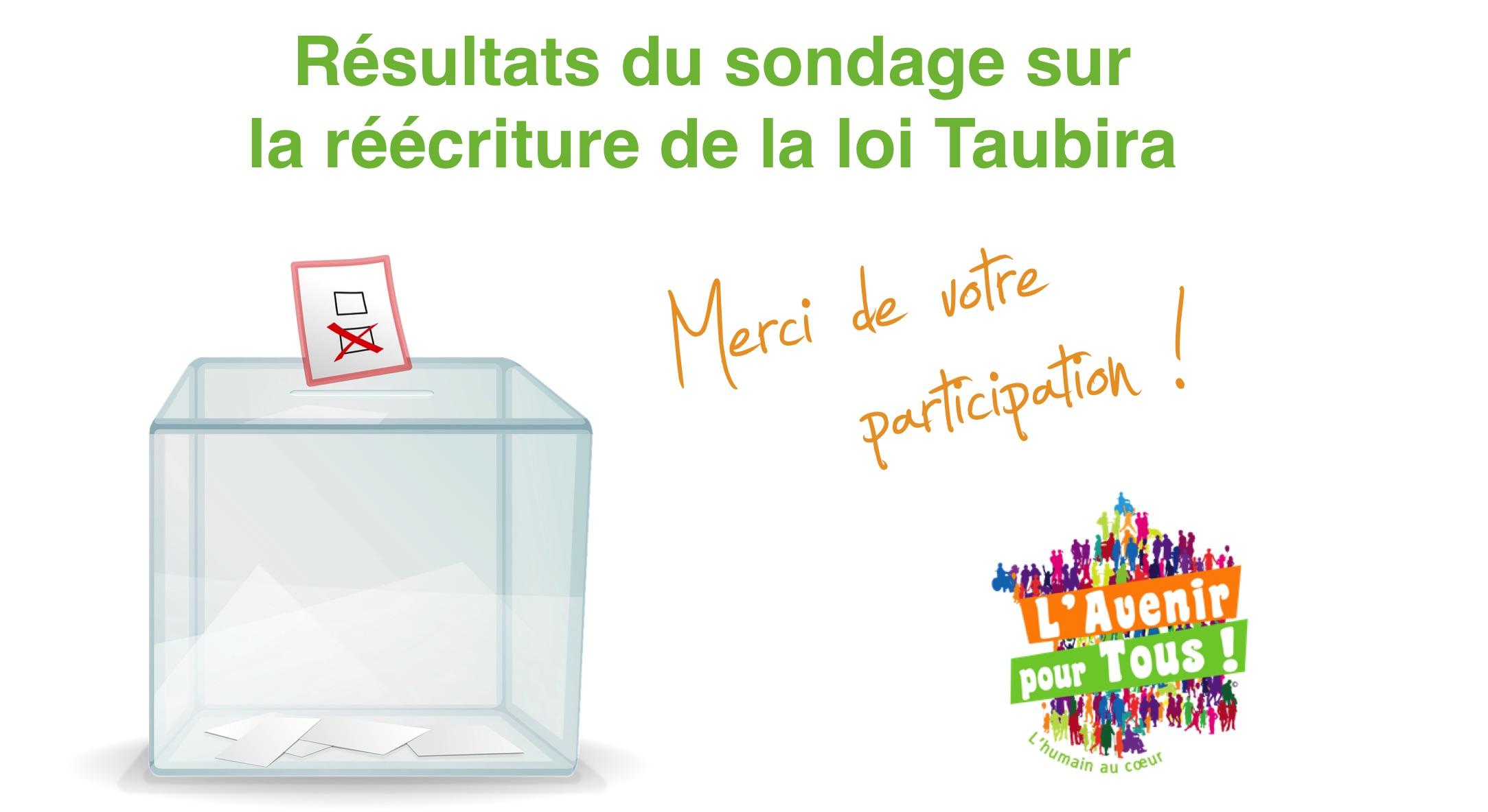 Sondage sur la réécriture de la loi Taubira : des résultats édifiants !