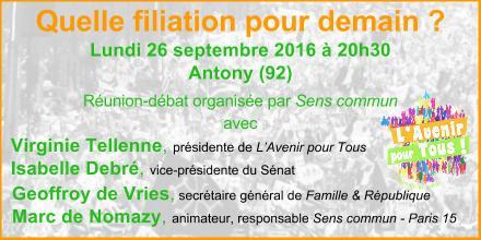 #FILIATION2017 : L'Avenir pour Tous démarre en fanfare avec Sens Commun