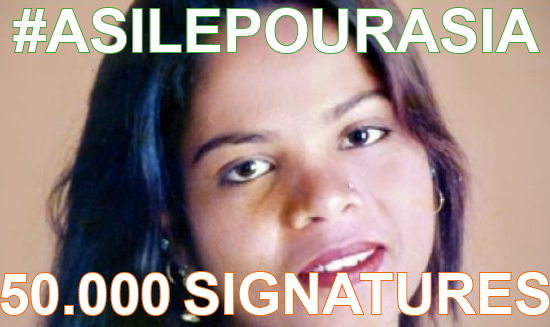#AsilePourAsia – 50.000 signatures : on continue jusqu'à la victoire !