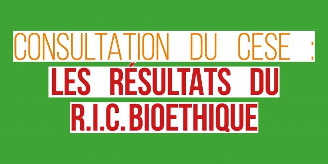Pour un Referendum d'Inititiave Citoyenne (RIC) sur le projet de loi Bioéthique – Étude synoptique du site et de la synthèse du CESE