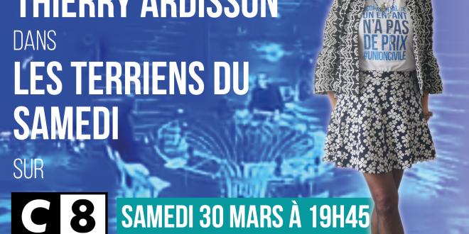 Virginie Tellenne invitée par Thierry Ardisson dans Les terriens du Samedi