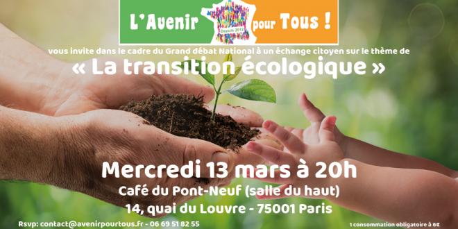 Compte-rendu Transition écologique et bioéthique