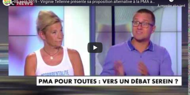 Virginie Tellenne présente sa proposition alternative à la PMA anonyme sur CNews