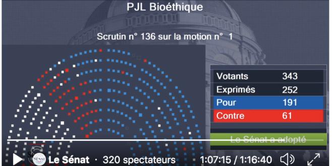 Vote sans discussion au Sénat ce jeudi 24 juin 2021, les explications de Virginie Tellenne