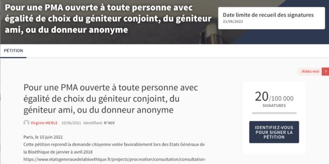 JE SOUTIENS LA DIFFUSION DE LA PÉTITION DE L'ASSEMBLÉE NATIONALE